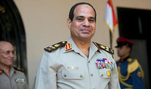 Foto IPP/picture alliance / dpa/Michael Kappeler Il Cairo Egitto 01/08/2013 nella foto il futuro presidente dell 'Egitto Abd al Fattah al Sisi con la divisa di generale dell' esercito  - WARNING AVAILABLE ONLY FOR ITALIAN MARKET - Italy Photo Press -