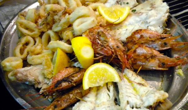 Frittura di pesce e grigliata